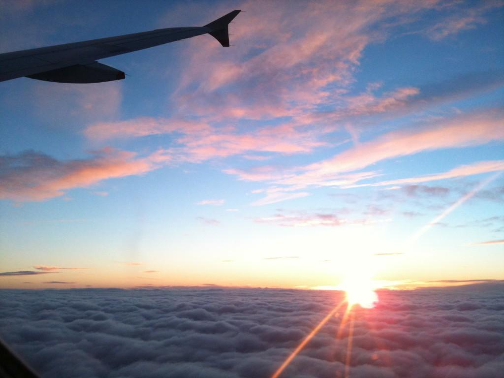Sonnenuntergang zwischen München und London
