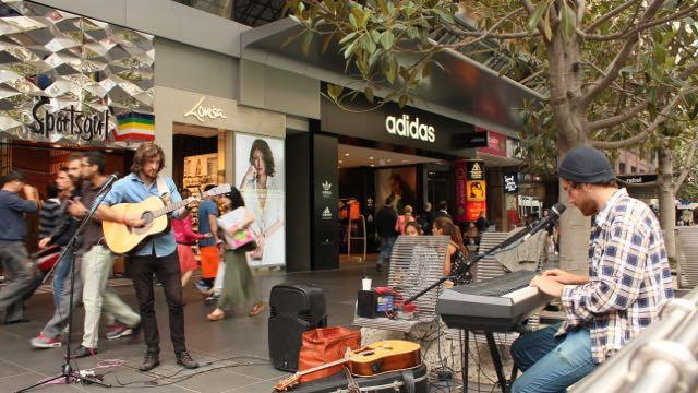 Busking in der Bourke Street – ein musikalisches Erlebnis